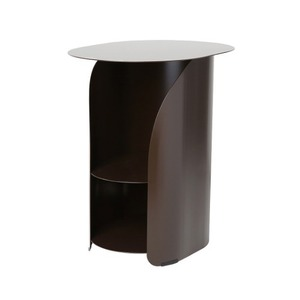 [bmotto] 커브사이드테이블 Curve side table_chestnut brown